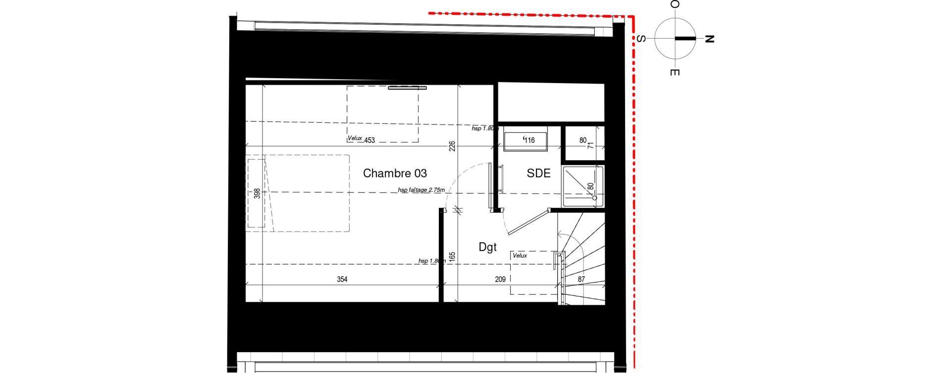 Maison T4 de 85,74 m2 à Rennes Sacré coeurs