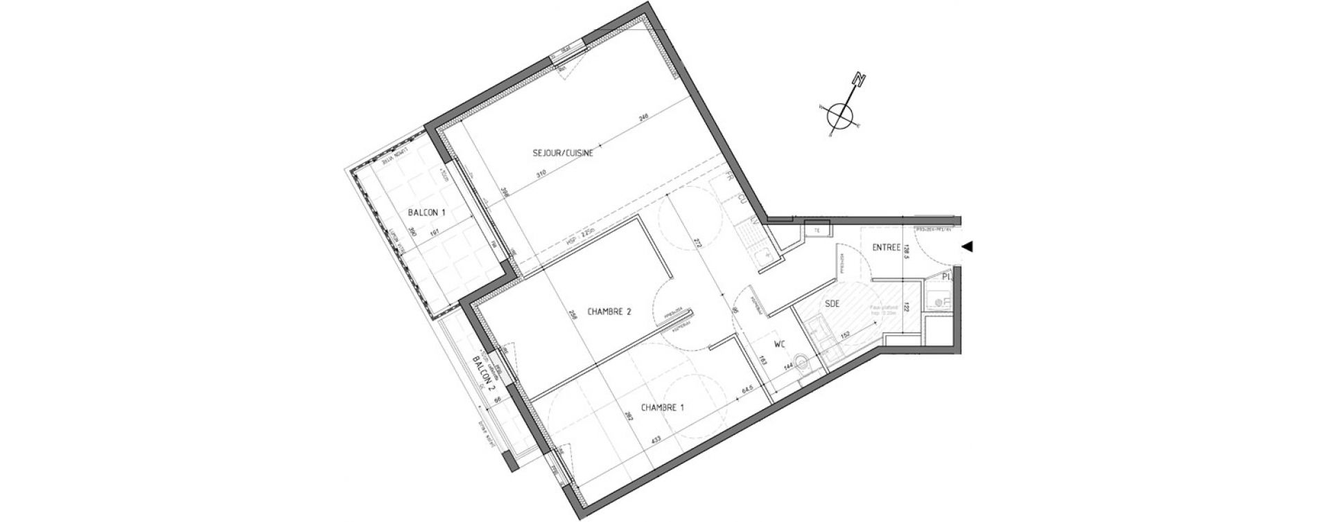 Appartement T3 de 67,31 m2 à Rennes Saint-martin