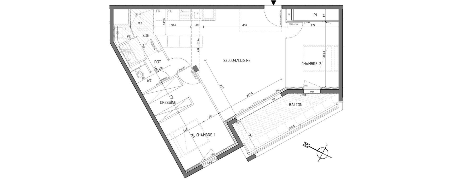 Appartement T3 de 61,47 m2 à Rennes Saint-martin