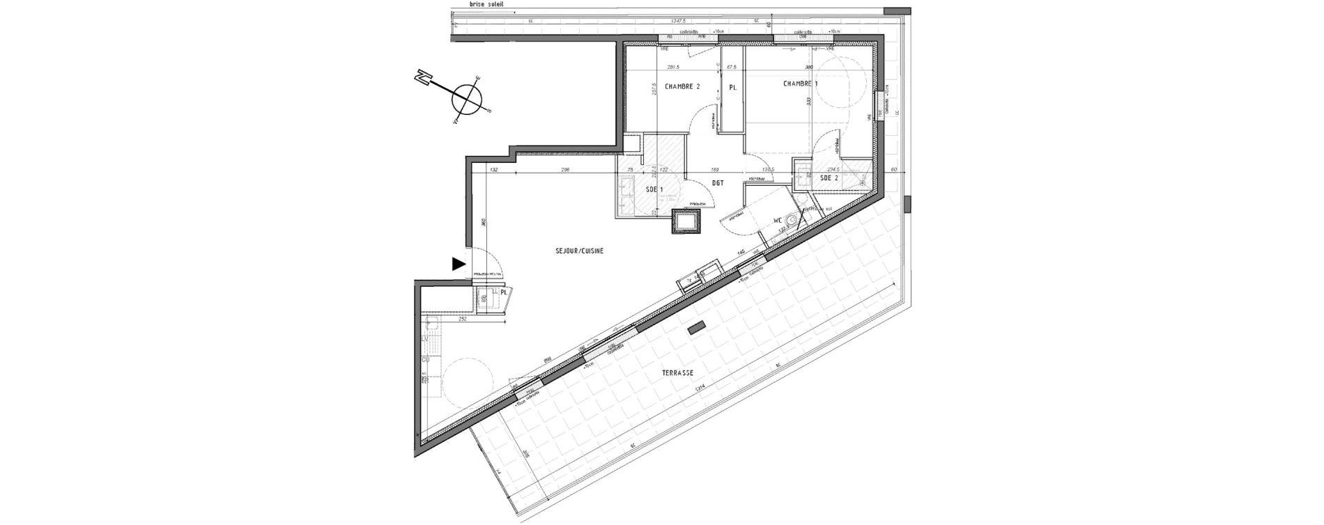 Appartement T3 de 76,49 m2 à Rennes Saint-martin