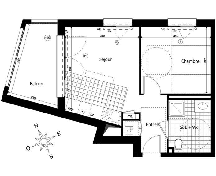 Plan T2 neuf à Saint-Jacques-de-la-Lande de