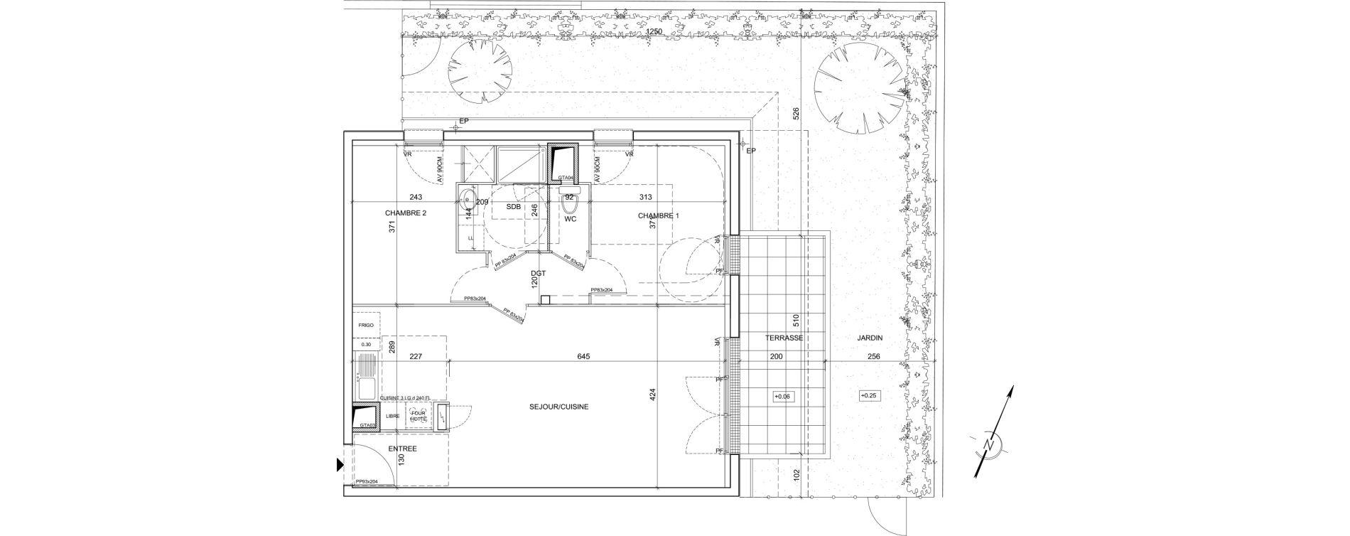 Appartement T3 de 67,23 m2 à Saint-Malo La hulotais