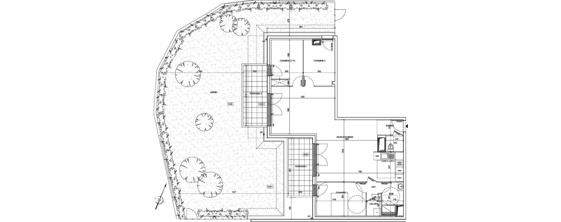 Appartement T4 de 95,07 m2 à Saint-Malo La hulotais