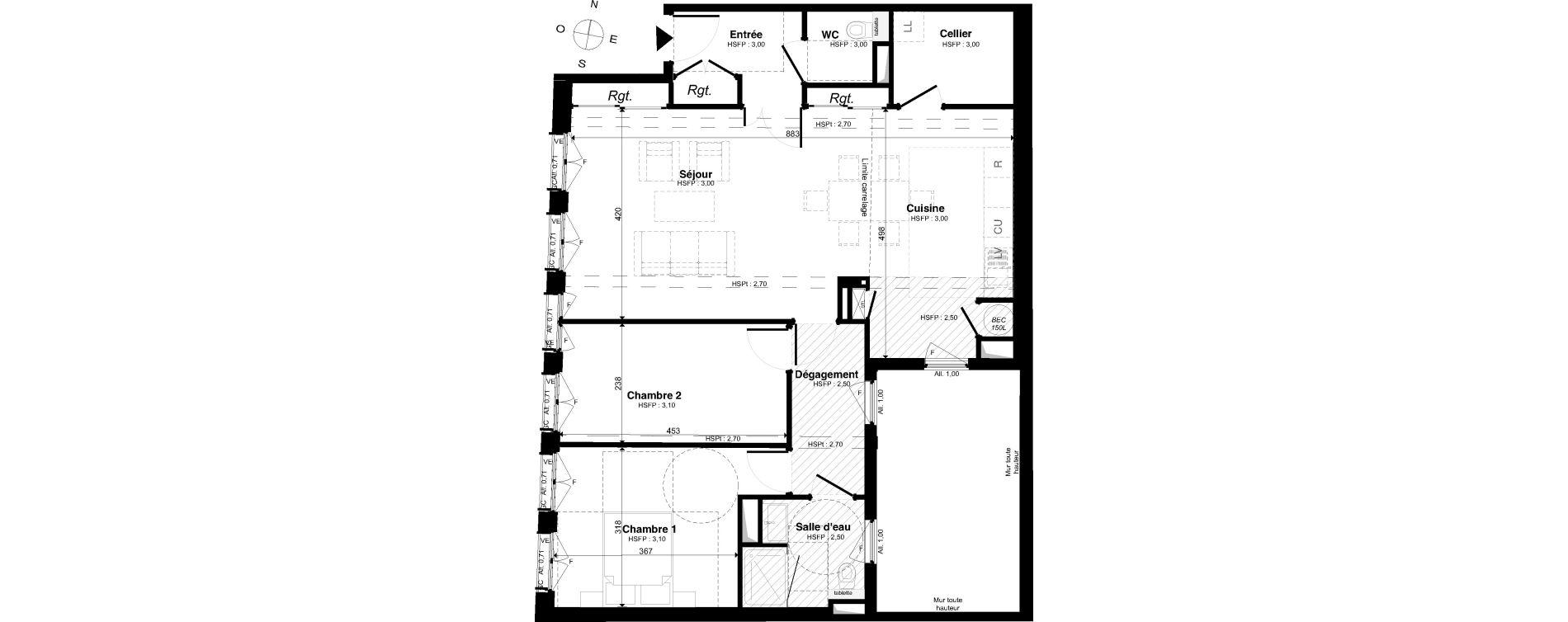 Appartement T3 de 84,37 m2 à Saint-Malo Intra-muros