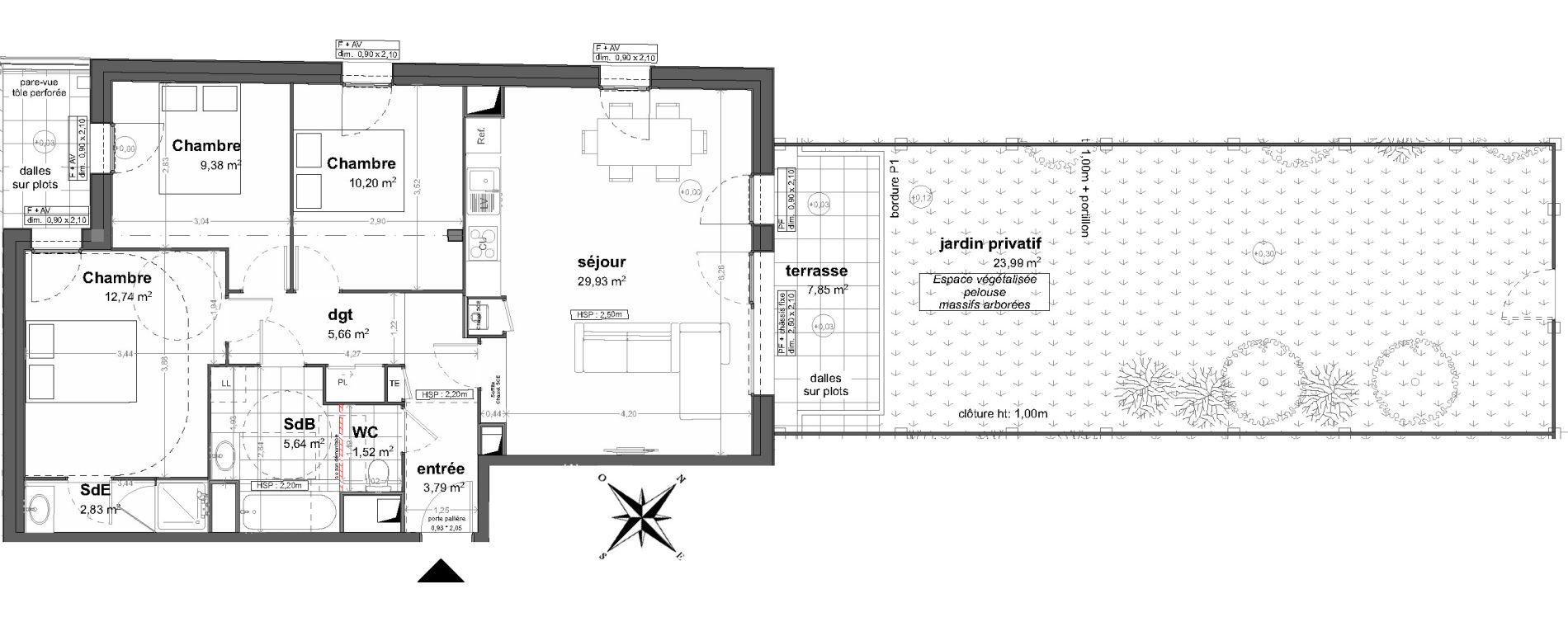 Appartement T4 de 81,69 m2 à Saint-Malo Saint-servan - solidor