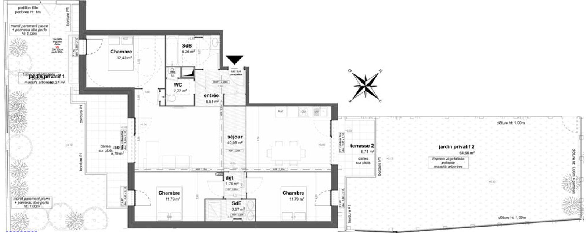 Appartement T4 de 94,87 m2 à Saint-Malo Saint-servan - solidor