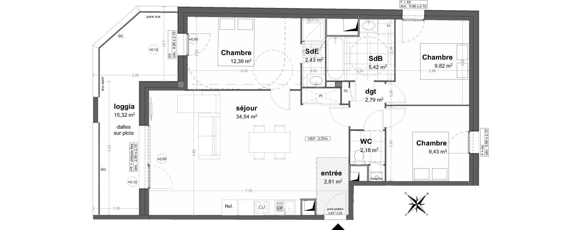 Appartement T4 de 81,81 m2 à Saint-Malo Saint-servan - solidor