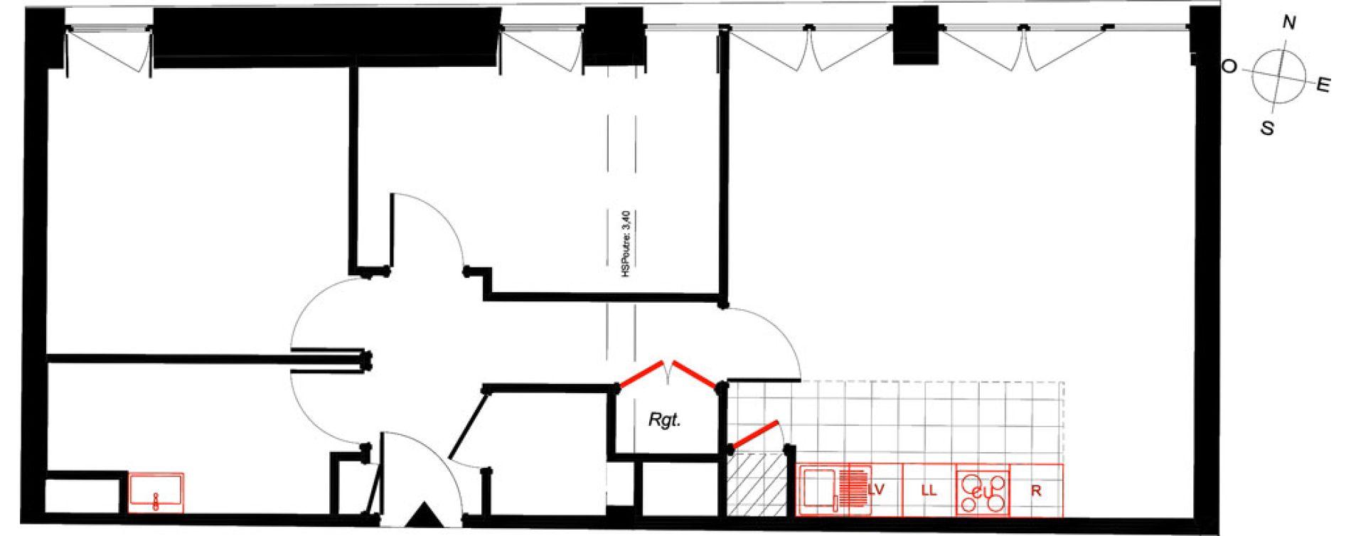 Appartement T3 de 61,13 m2 à Saint-Malo Intra-muros