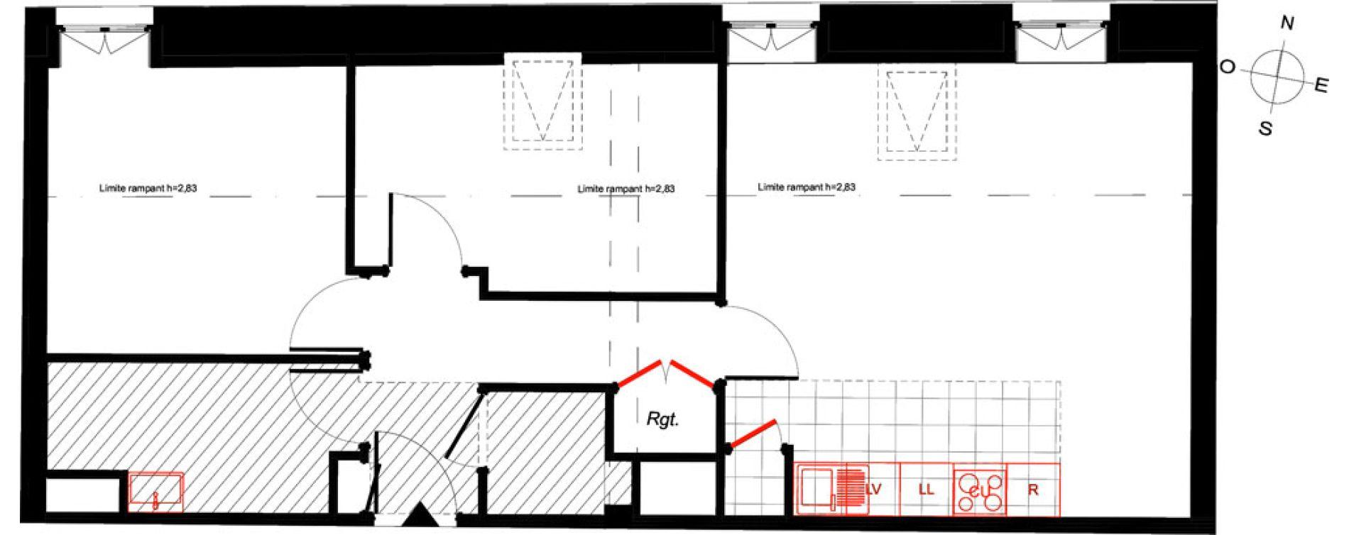 Appartement T3 de 58,74 m2 à Saint-Malo Intra-muros