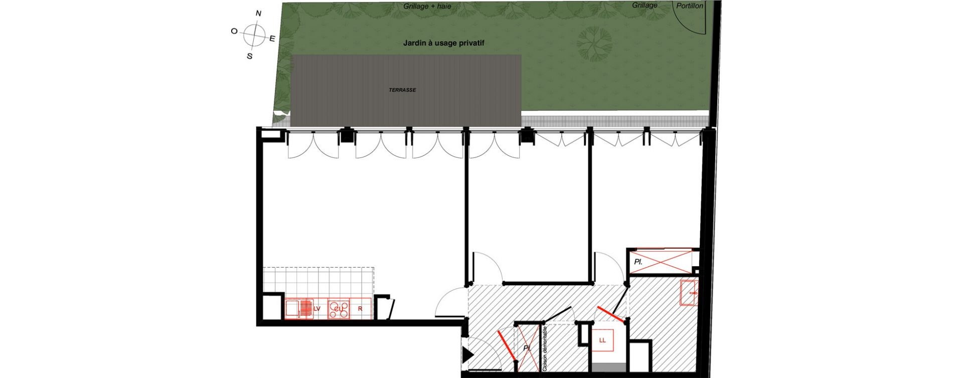 Appartement T3 de 66,41 m2 à Saint-Malo Intra-muros