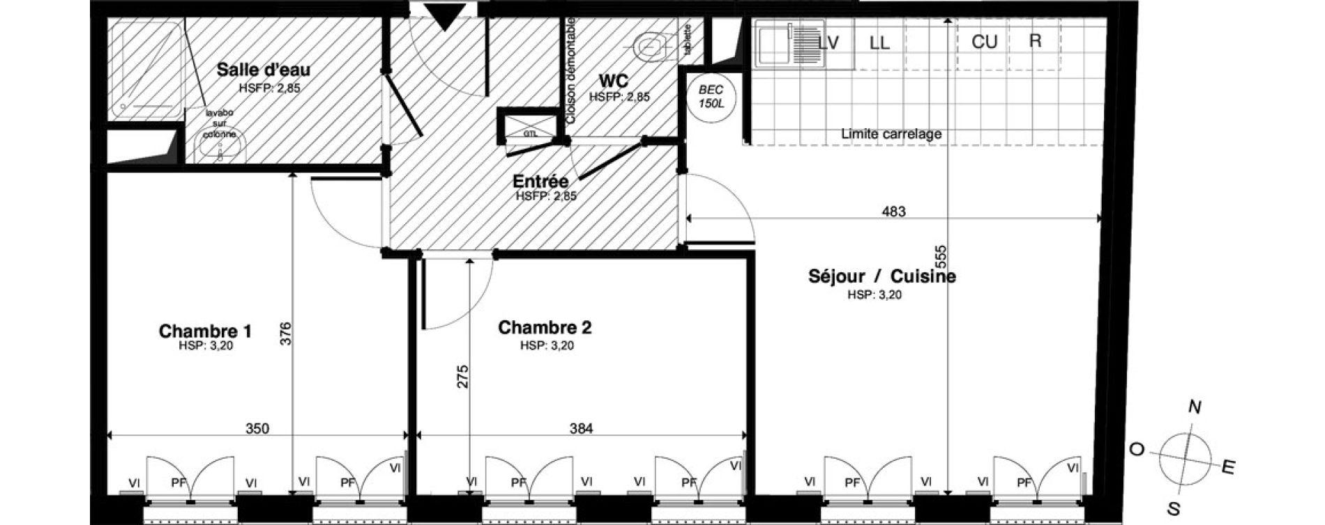 Appartement T3 de 60,79 m2 à Saint-Malo Intra-muros