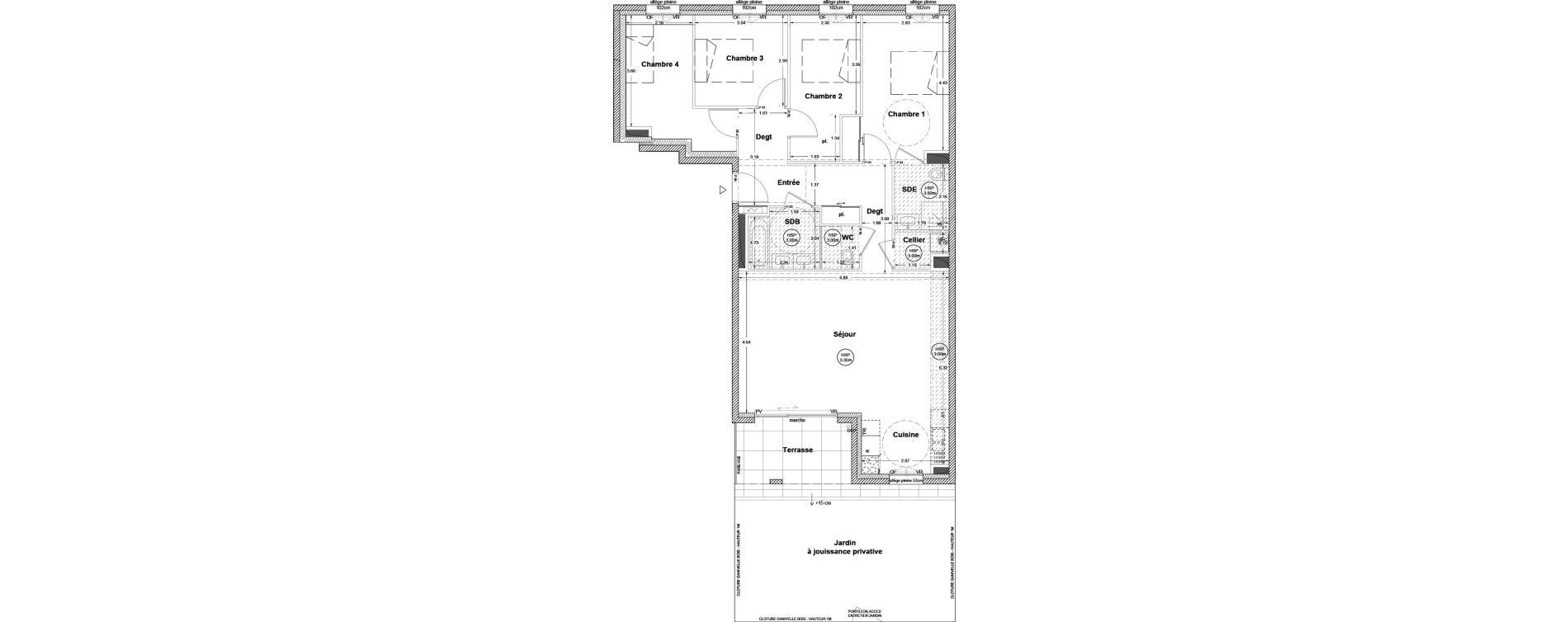 Appartement T5 de 104,70 m2 à Vezin-Le-Coquet Centre
