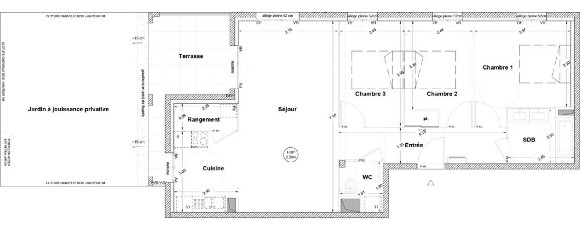 Appartement T4 de 81,80 m2 à Vezin-Le-Coquet Centre