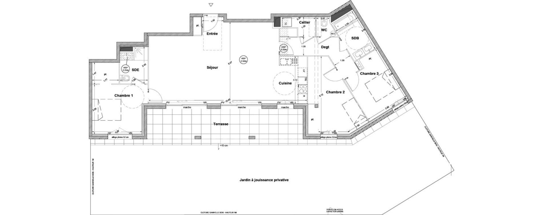 Appartement T4 de 107,70 m2 à Vezin-Le-Coquet Centre