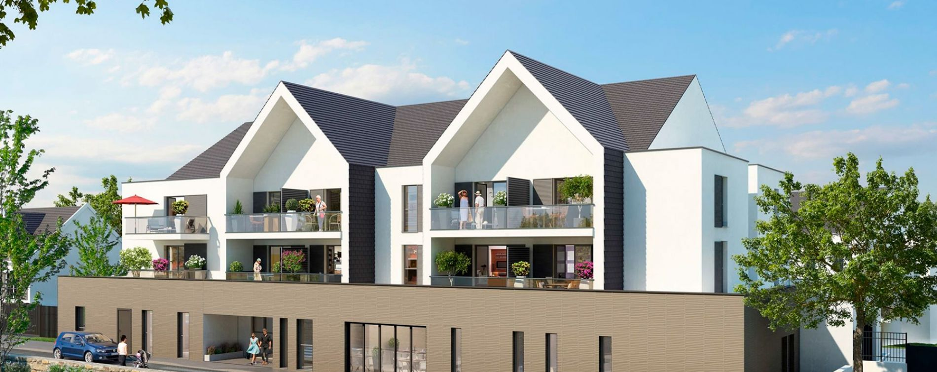 La Roche-Bernard : programme immobilier neuve « Jardin Valentin »