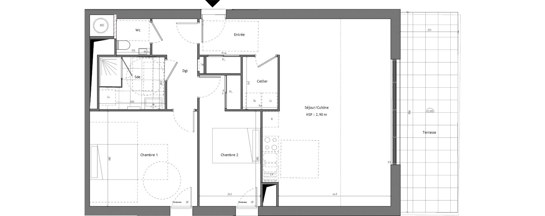 plan appartement 90 m