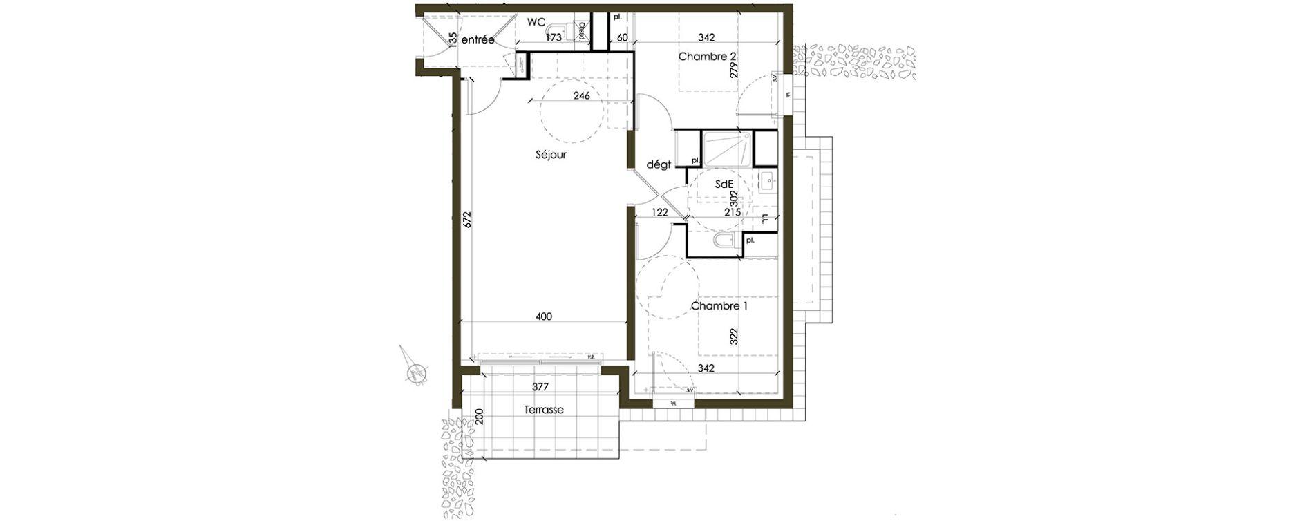 Appartement T3 de 64,56 m2 à Vannes Nord est