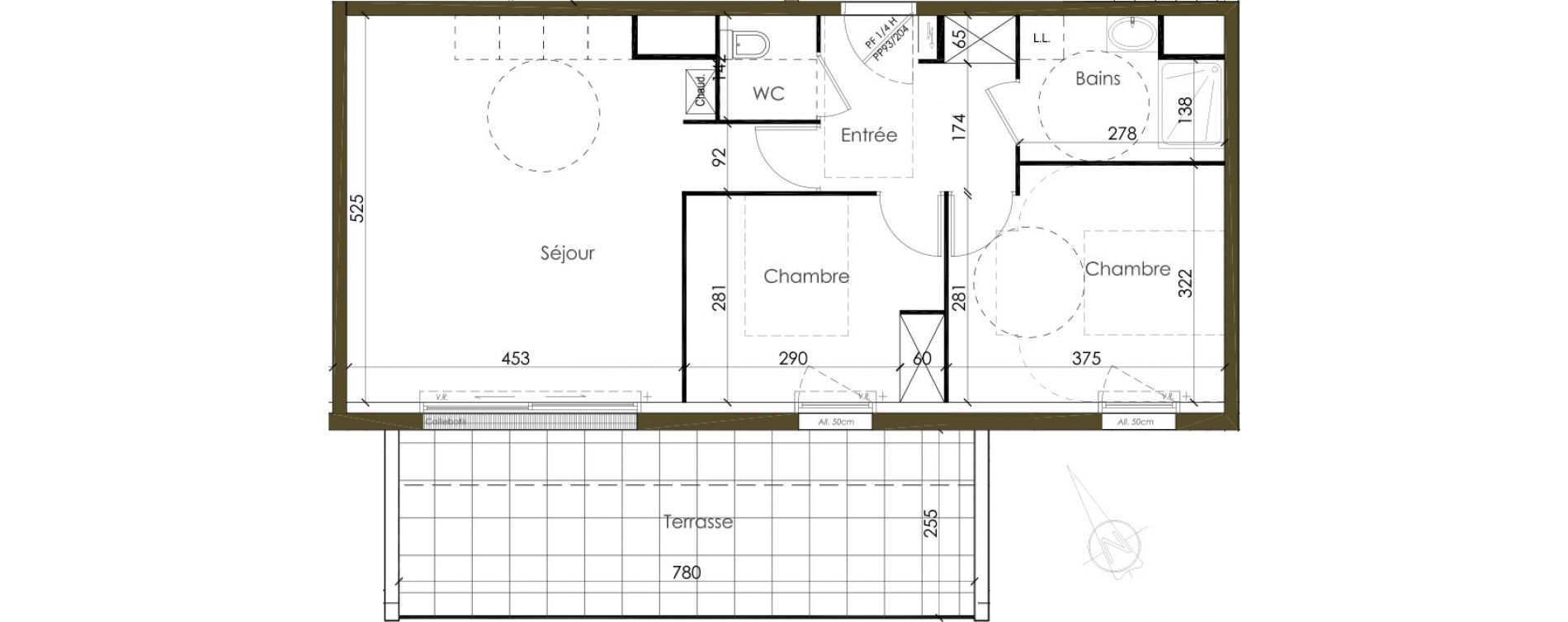 Appartement T3 de 60,00 m2 à Vannes Nord est
