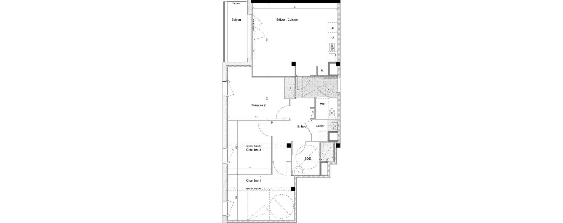 Appartement T4 de 74,91 m2 à Vannes Nord - gare
