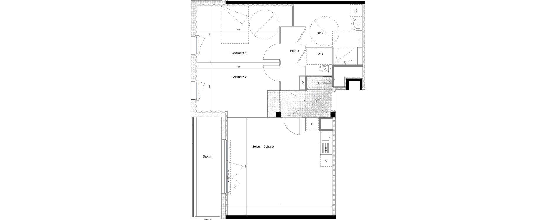 Appartement T3 de 67,19 m2 à Vannes Nord - gare