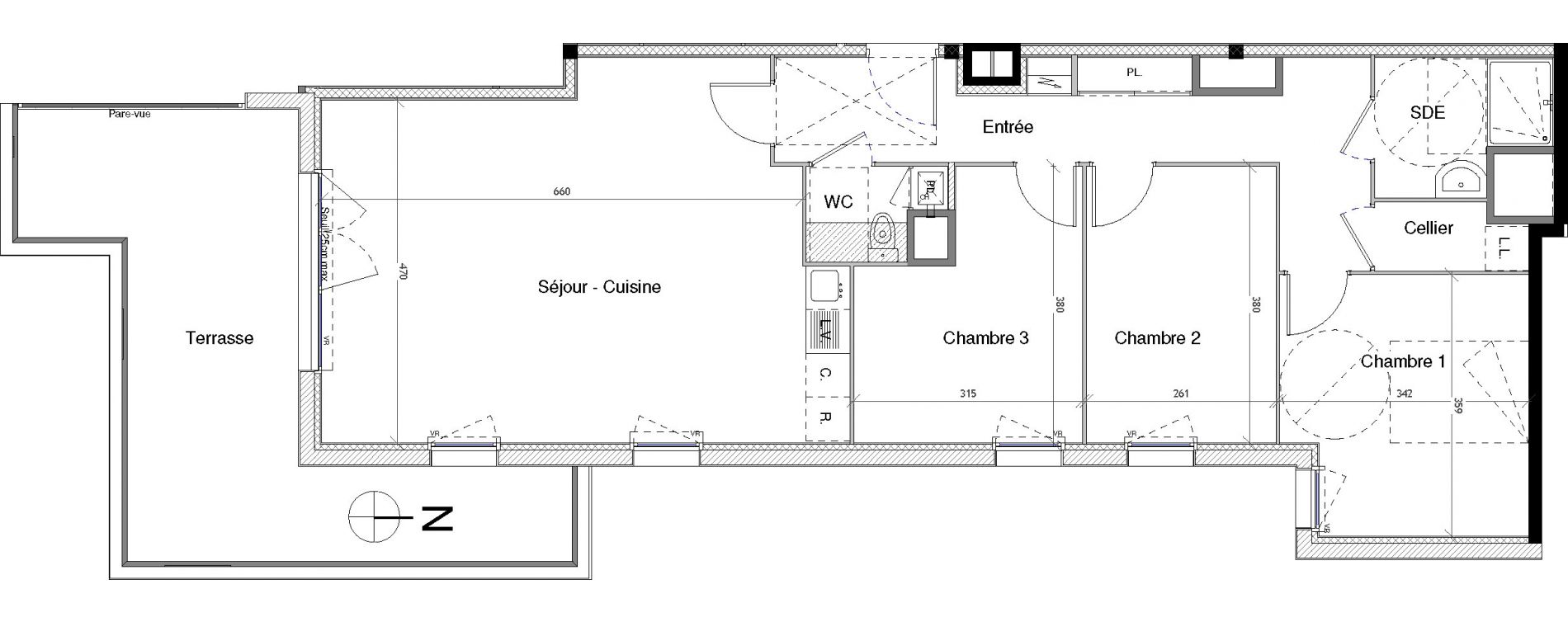 Appartement T4 de 85,55 m2 à Vannes Nord - gare