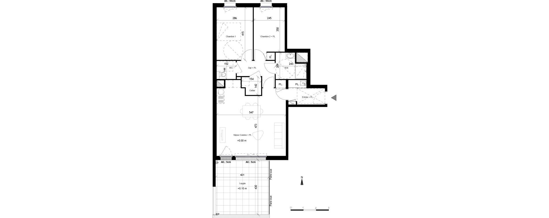 Appartement T3 de 68,66 m2 à Vannes Nord - gare