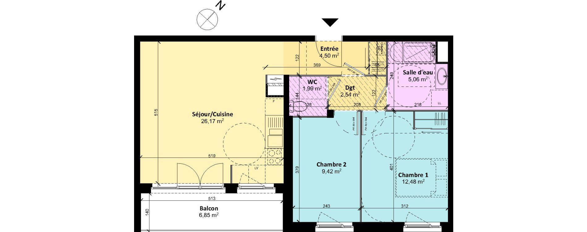Plan T3 neuf à Chartres de