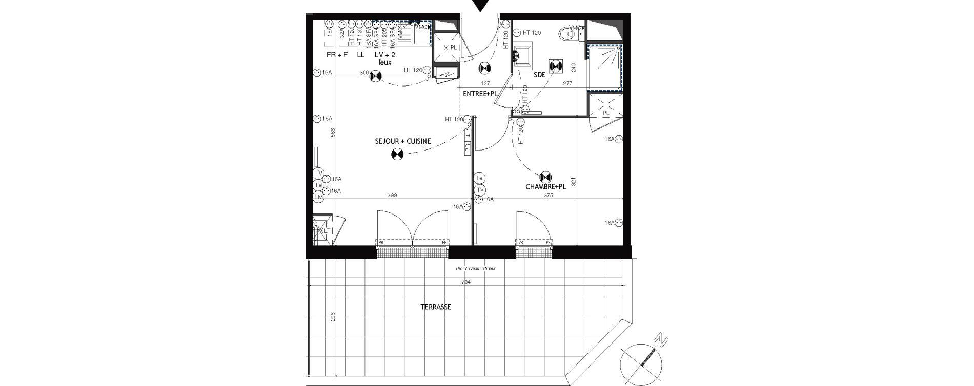 Appartement T2 de 42,47 m2 à Épernon Savonnière