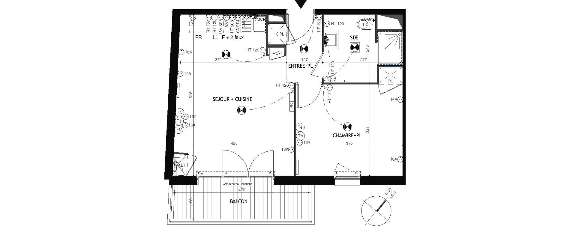 Appartement T2 de 43,38 m2 à Épernon Savonnière