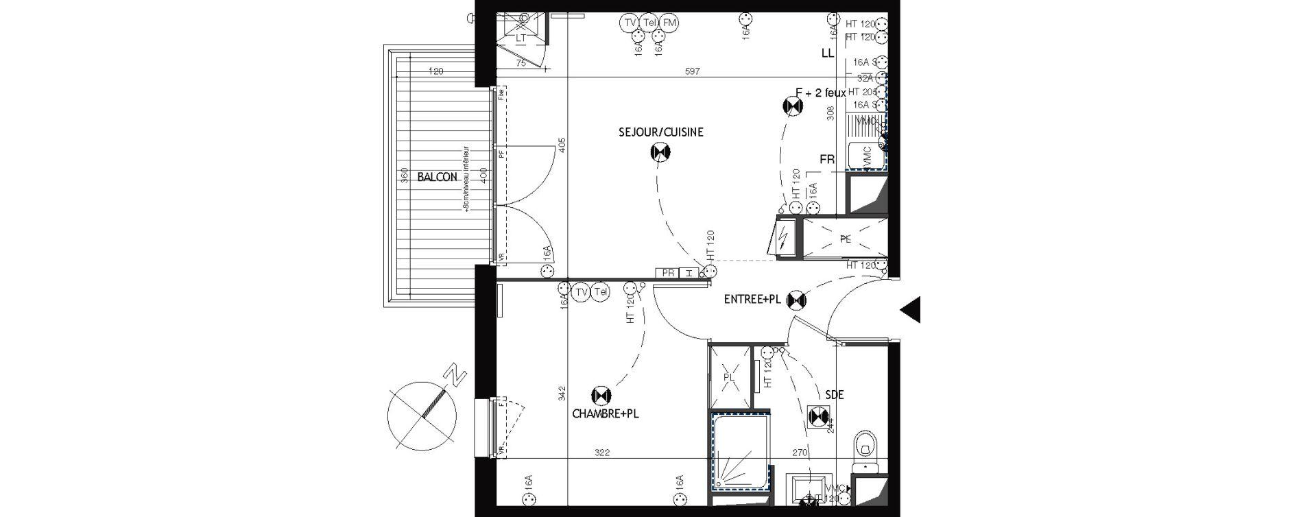 Appartement T2 de 43,07 m2 à Épernon Savonnière