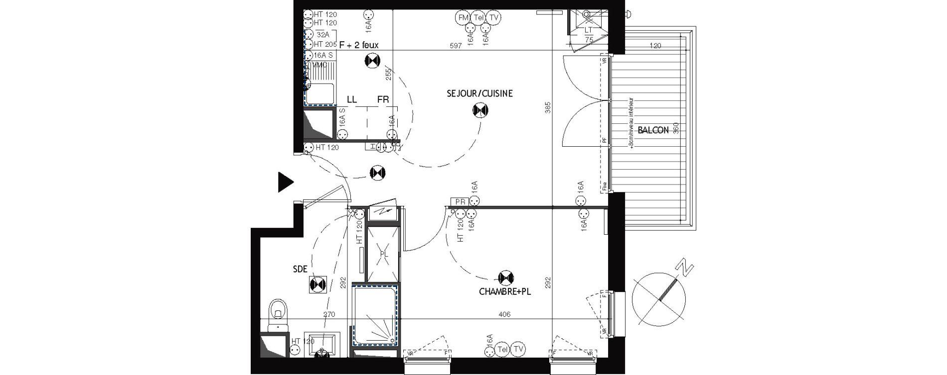 Appartement T2 de 40,92 m2 à Épernon Savonnière