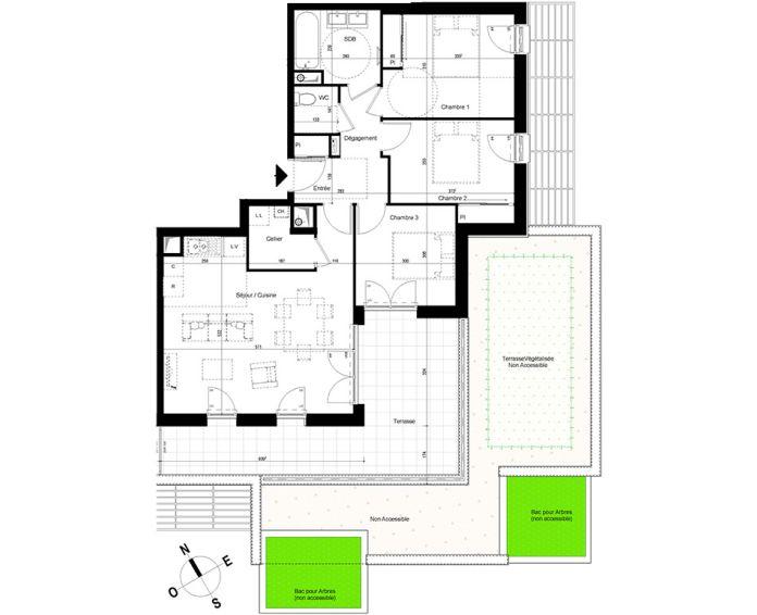appartement t4 chambray l s tours n 853 se el ments. Black Bedroom Furniture Sets. Home Design Ideas