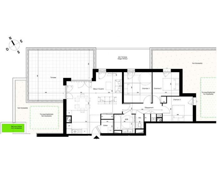 appartement t4 chambray l s tours n 883 se el ments. Black Bedroom Furniture Sets. Home Design Ideas