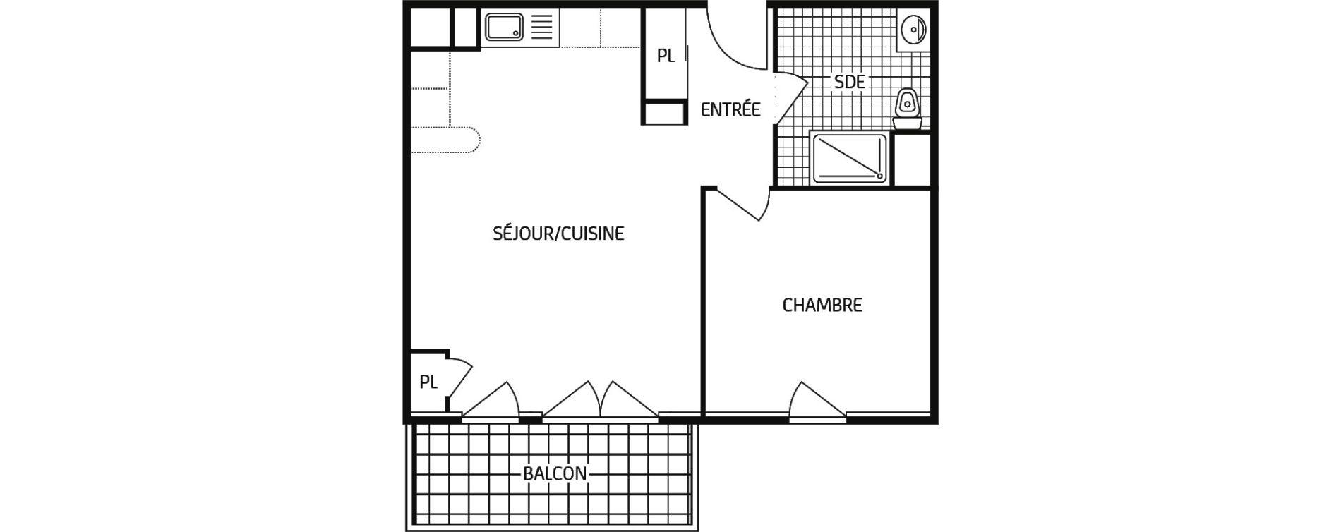 Appartement T2 de 44,48 m2 à Montbazon Centre
