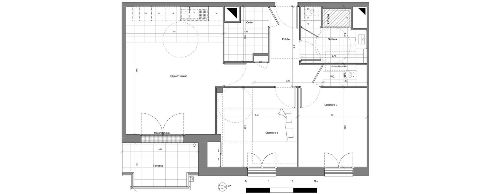 Plan T3 neuf à Saint-Cyr-sur-Loire de