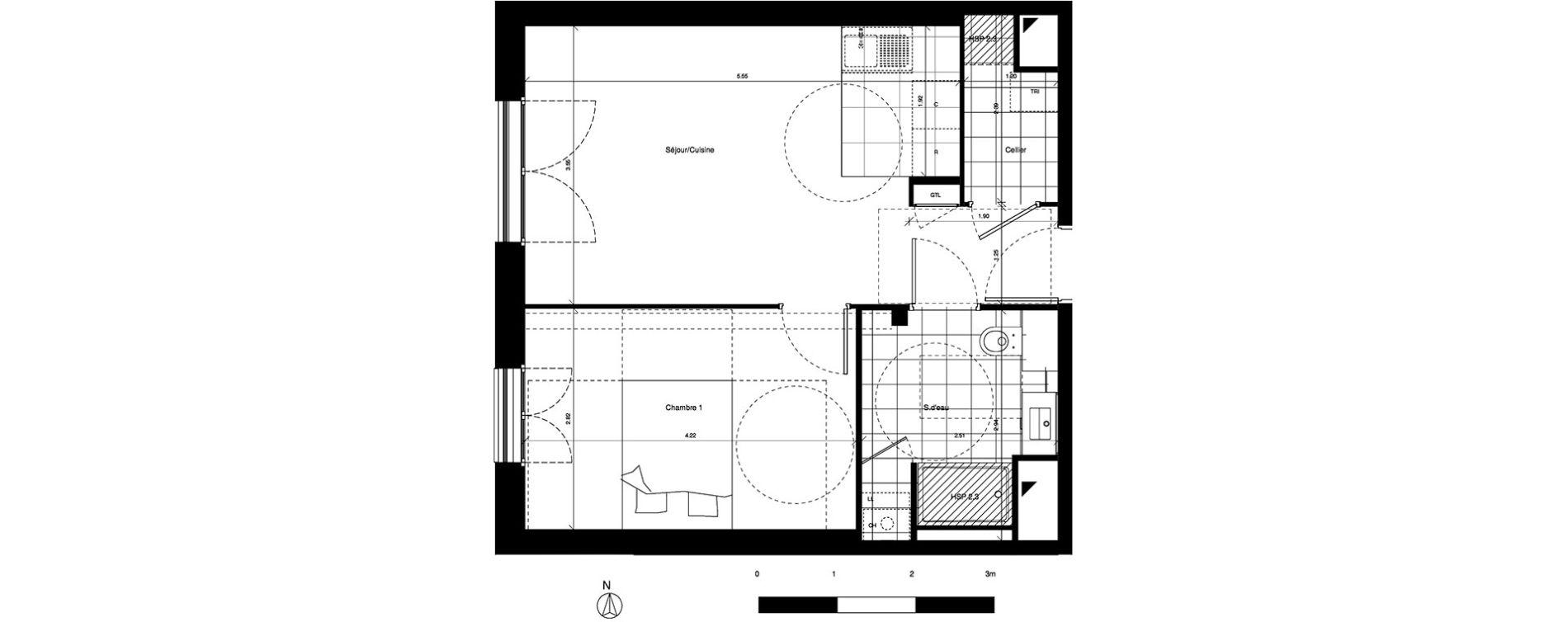Plan T2 neuf à Saint-Cyr-sur-Loire de