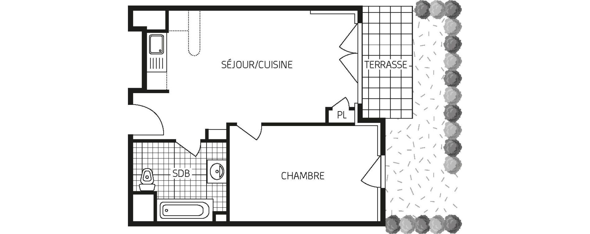 Appartement T2 de 41,54 m2 à Orléans Barrière st-marc - la fontaine
