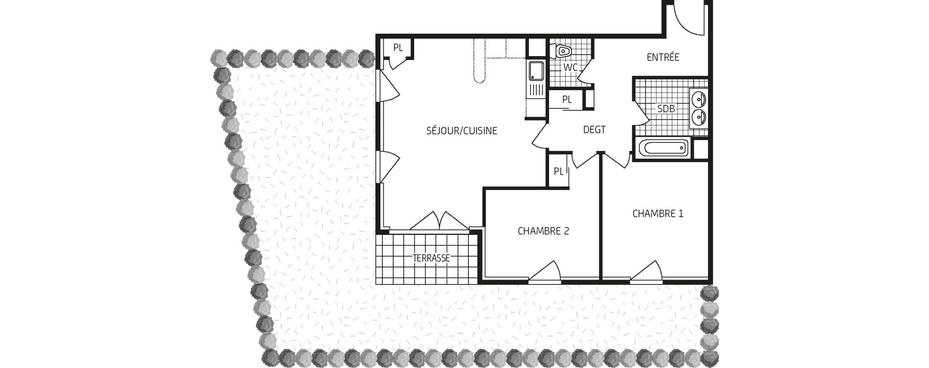 Appartement T3 de 66,30 m2 à Orléans Barrière st-marc - la fontaine