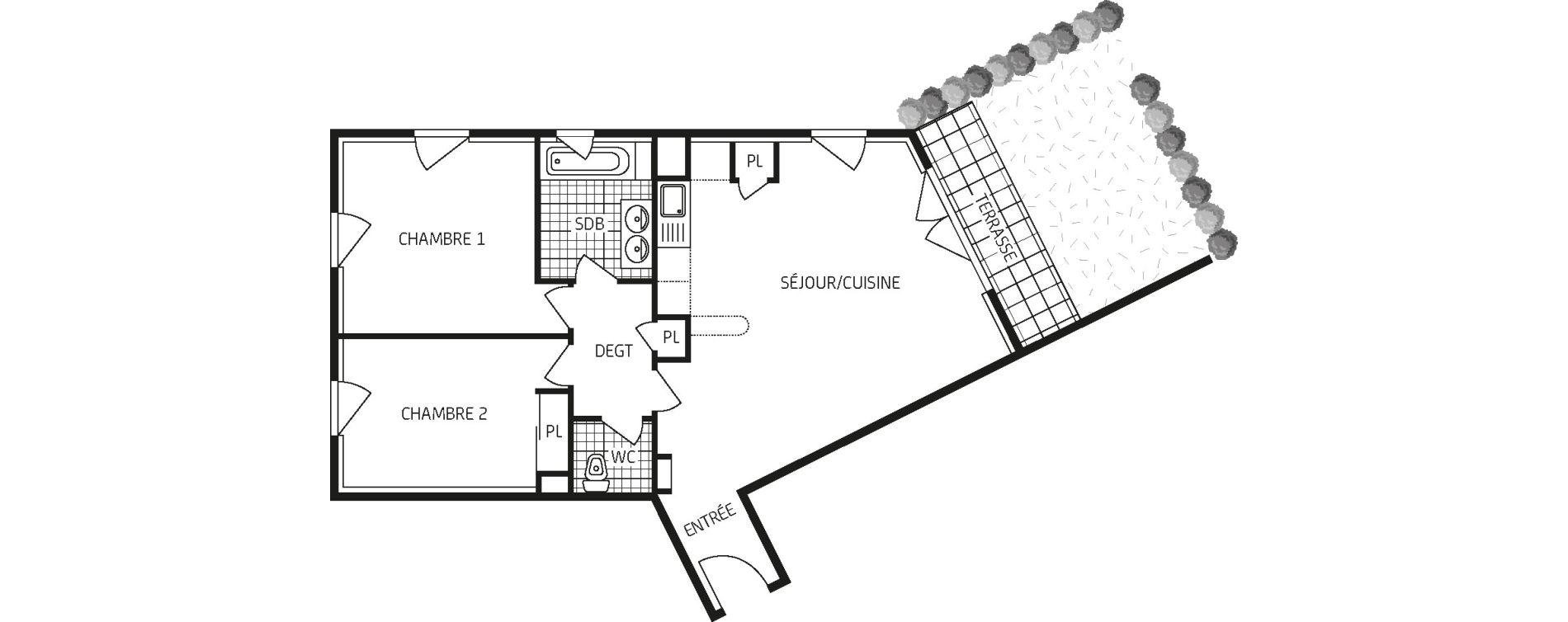 Appartement T3 de 66,47 m2 à Orléans Barrière st-marc - la fontaine