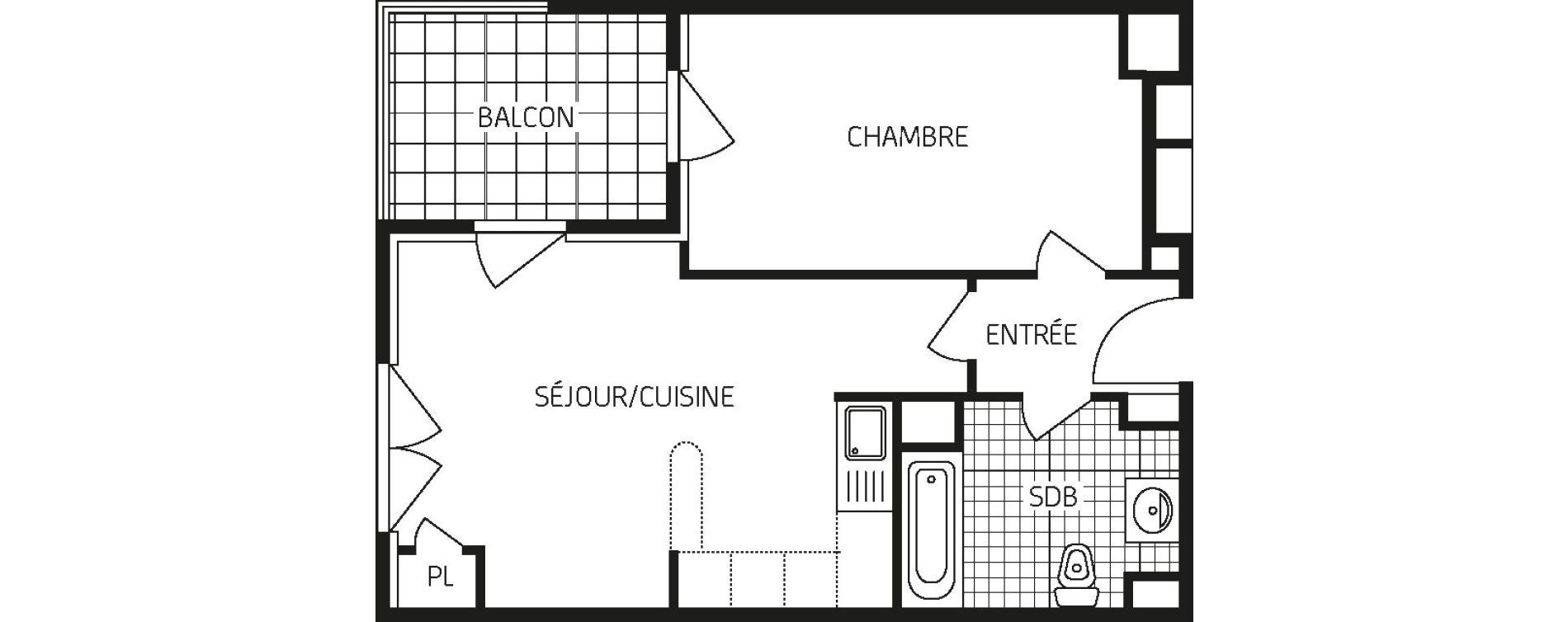 Appartement T2 de 43,80 m2 à Orléans Barrière st-marc - la fontaine