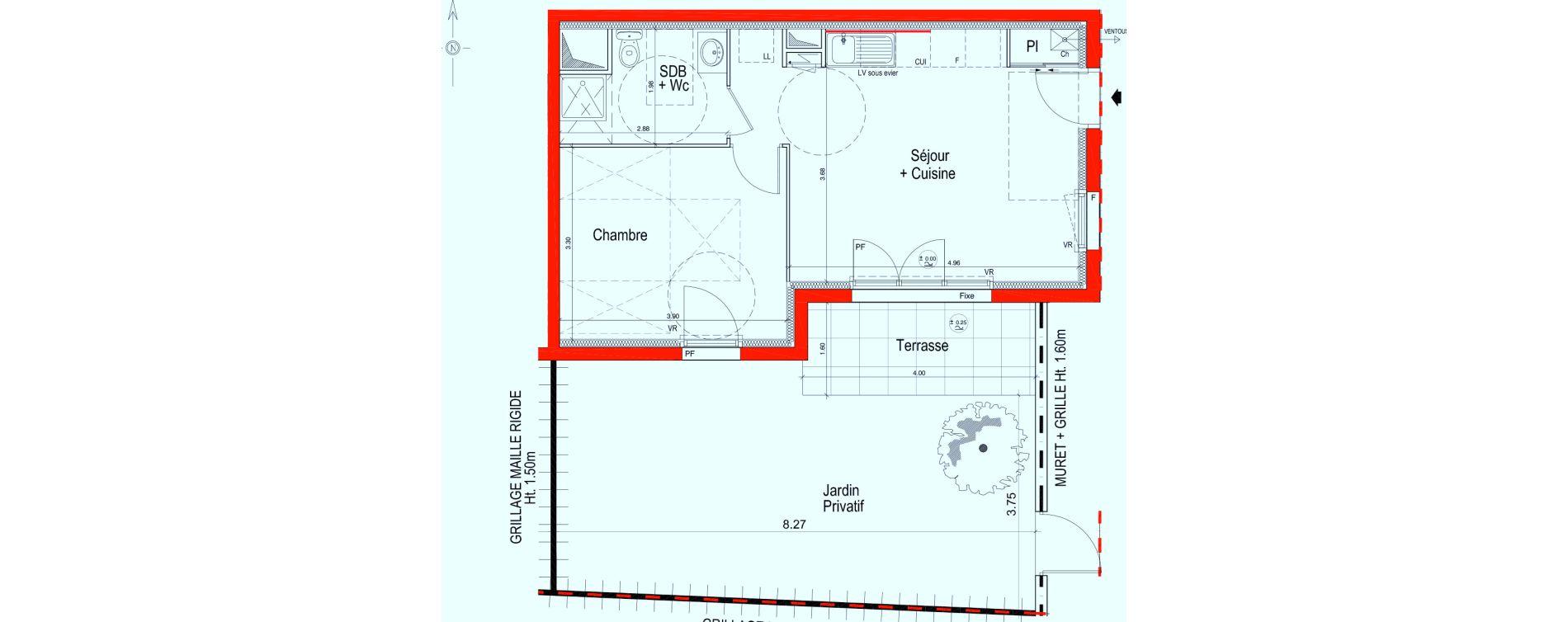 Appartement T2 de 40,85 m2 à Saint-Jean-De-Braye Saint jean de braye le hameau