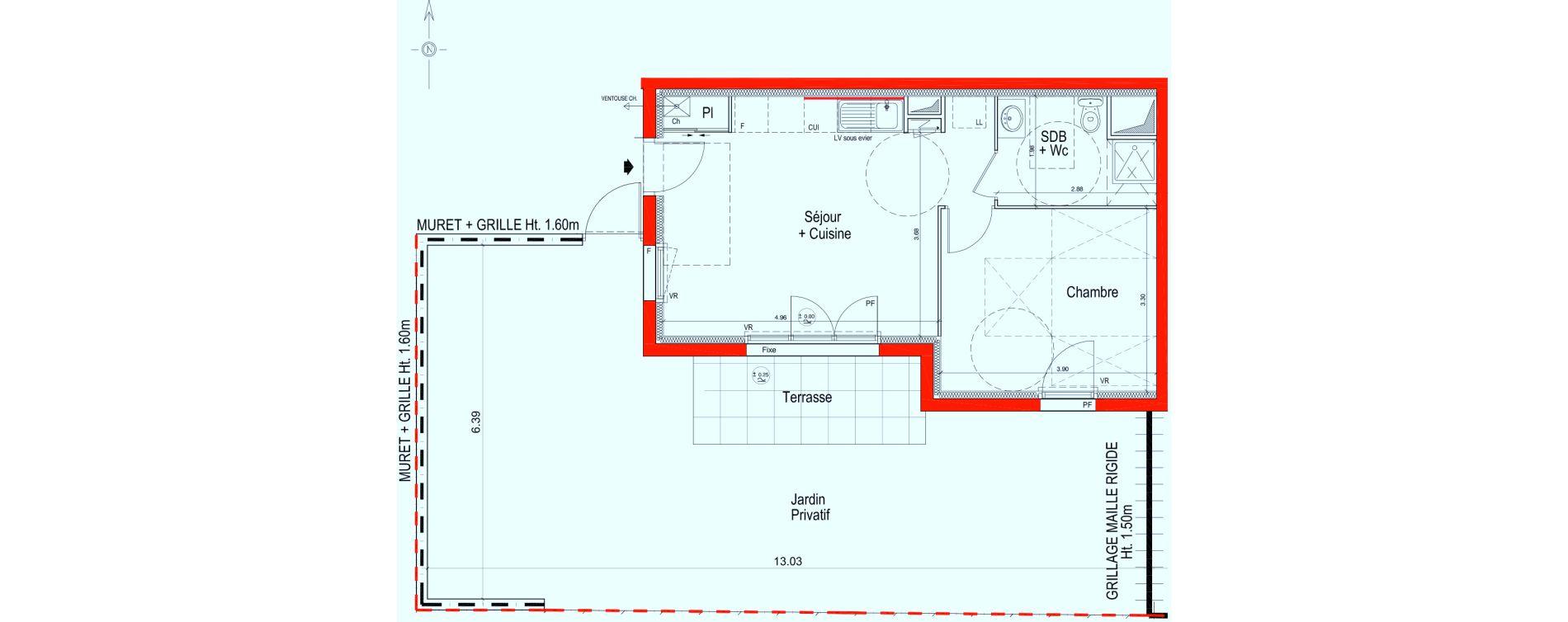 Appartement T2 de 41,00 m2 à Saint-Jean-De-Braye Saint jean de braye le hameau
