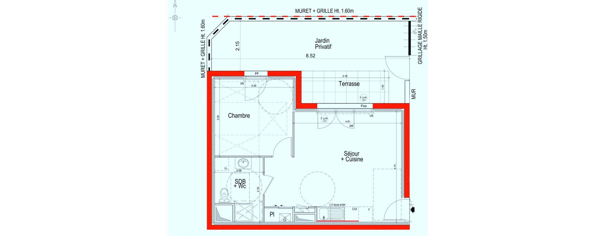 Appartement T2 de 40,95 m2 à Saint-Jean-De-Braye Saint jean de braye le hameau