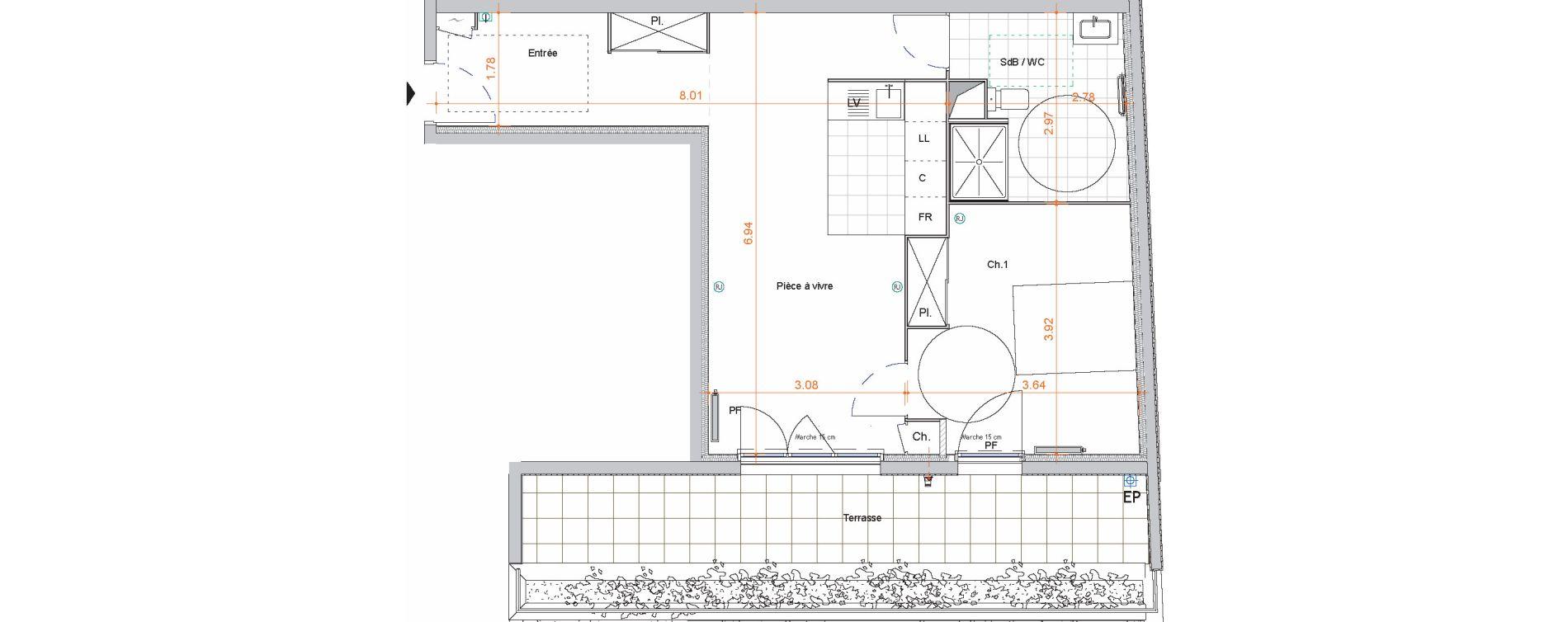 Appartement T2 de 52,20 m2 à Saint-Jean-De-Braye Centre ville