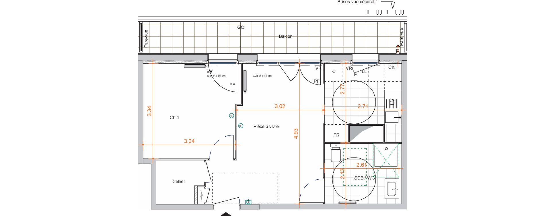 Appartement T2 de 42,00 m2 à Saint-Jean-De-Braye Centre ville