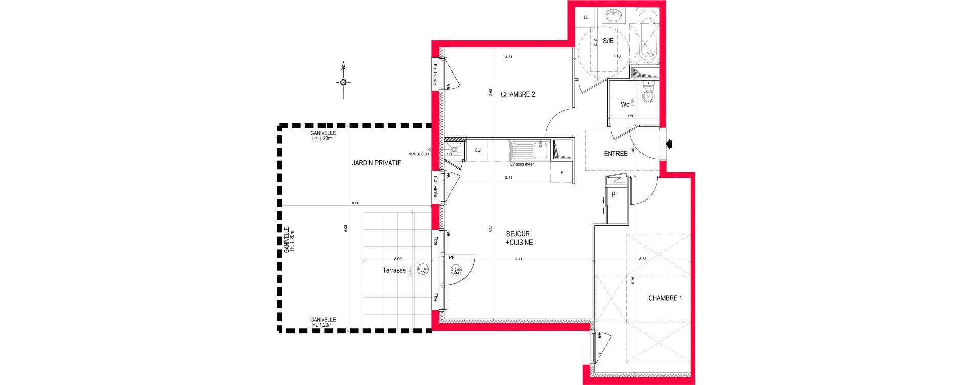 Appartement T3 de 60,60 m2 à Saint-Jean-De-Braye Eclo