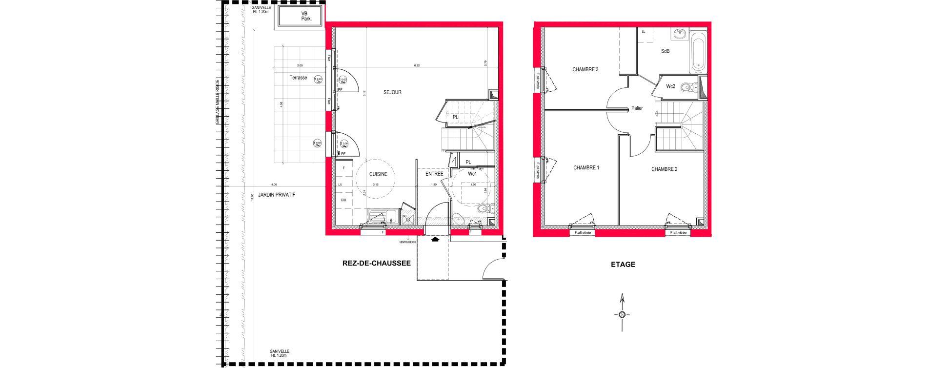 Appartement T4 de 86,53 m2 à Saint-Jean-De-Braye Eclo
