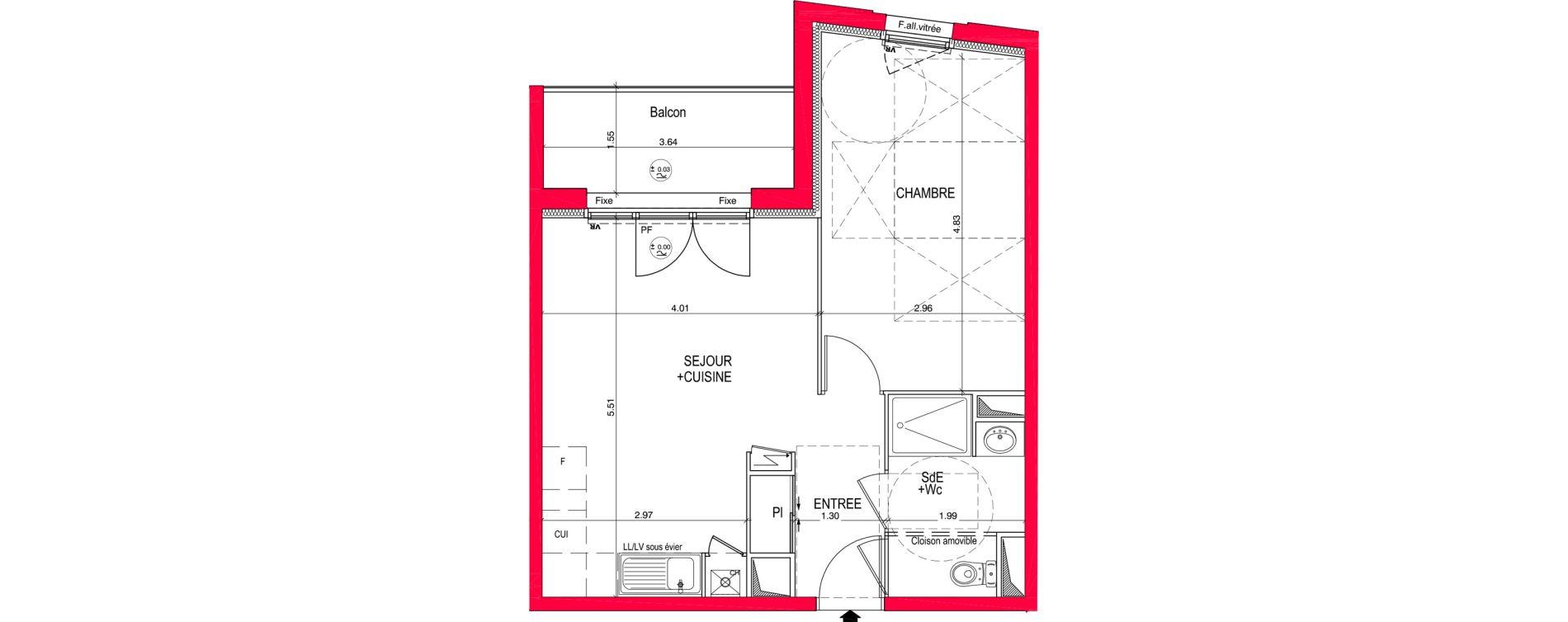 Appartement T2 de 44,15 m2 à Saint-Jean-De-Braye Eclo