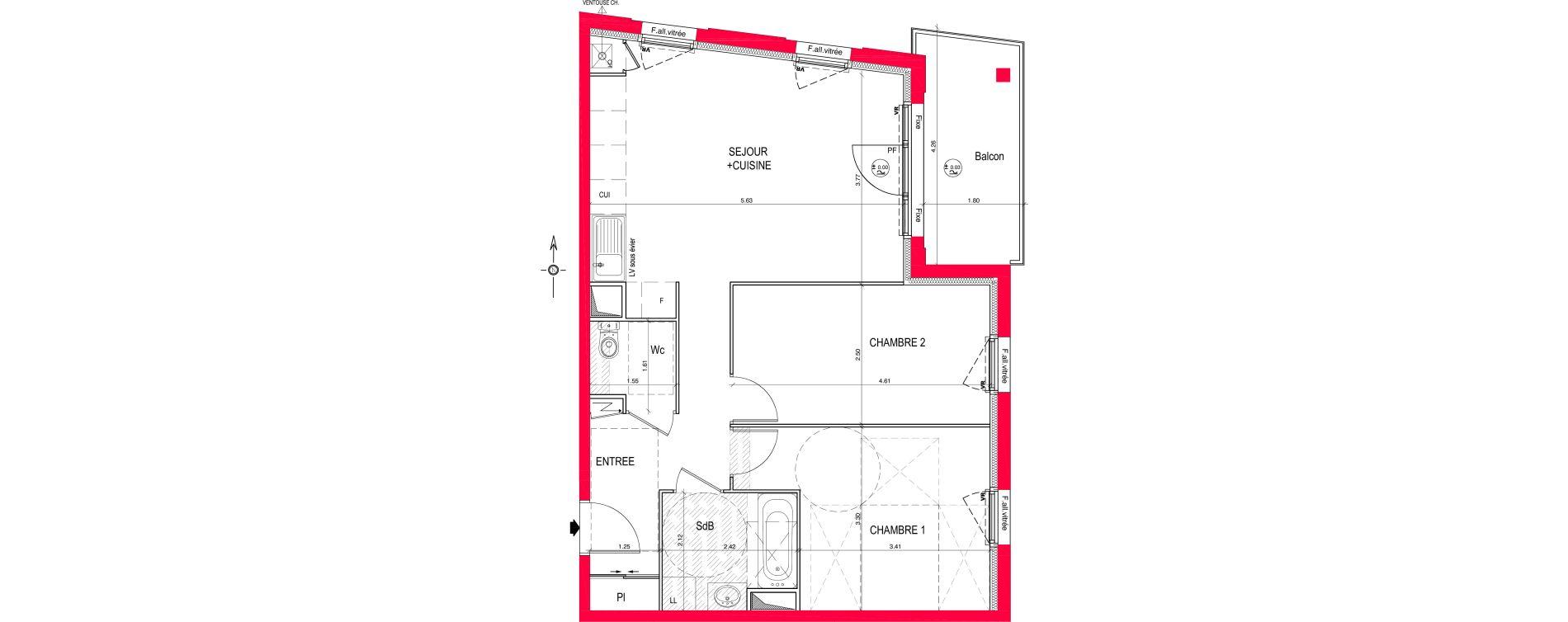 Appartement T3 de 63,07 m2 à Saint-Jean-De-Braye Eclo
