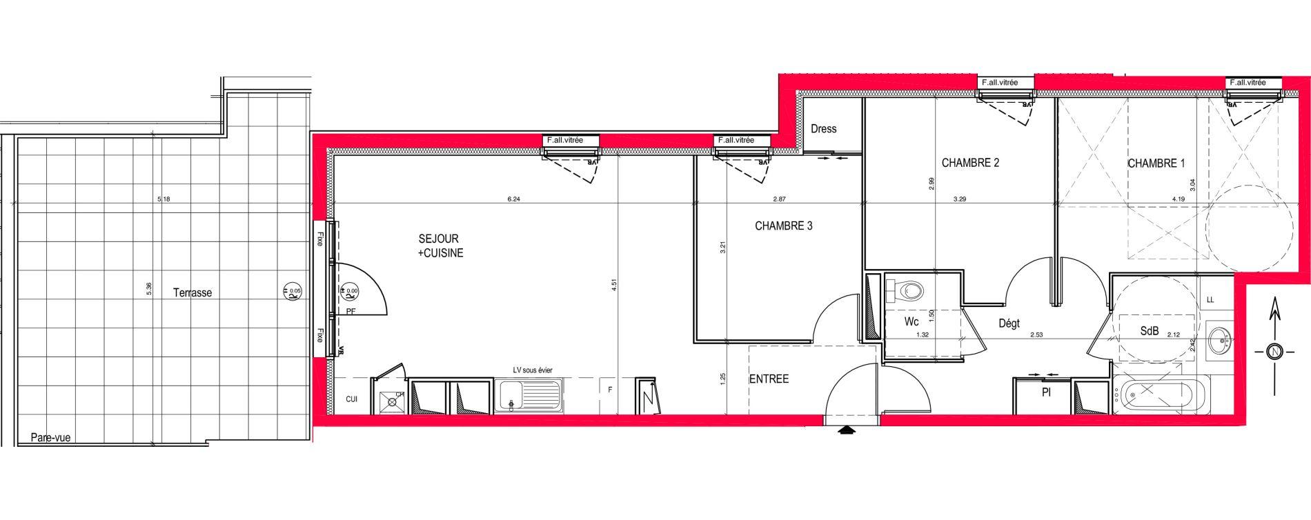 Appartement T4 de 77,87 m2 à Saint-Jean-De-Braye Eclo